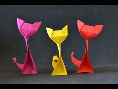 Origami: Kitty Cat, My Crafts and DIY Projects
