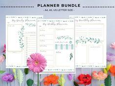 Monthly Planner, Printable Planner, Planner Stickers, Printables, Sticker Organization, Organization Hacks, Letter Size, Planners, Etsy Seller