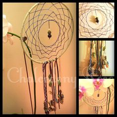 DREAMCATCHER 20cm hoop Featuring gemstone beads and shells  Handmade and unique  Made to order $45 plus $5 within Australia  www.facebook.com/chalcedonyrose