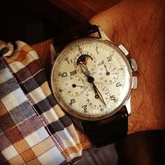 hodinkee:  My wrist wear on the day we re-launch? Pete Fullerton's Tri-Compax.  (Taken with Instagram)