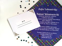 **Pierwsze w Polsce zaproszenia ślubne na bawełnianych chusteczkach!**  Barwna propozycja dla odważnych fanów nietypowych wzorów i nadruków. Wzór ten sprawdzi się nie tylko jako zaproszenie...