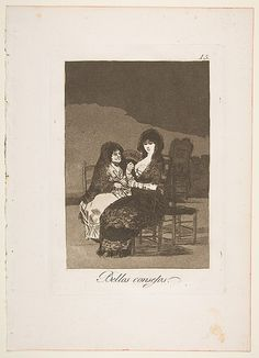 Goya (Francisco de Goya y Lucientes) (Spanish, 1746–1828). Pretty Teachings (Bellos Consejos), from The Caprices (Los Caprichos), plate 15, 1799. The Metropolitan Museum of Art, New York. Gift of M. Knoedler  Co., 1918 (18.64(15))