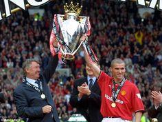 King pair: Roy Keane, signed in 1993, was Ferguson's leader on the pitch and inspired many successes