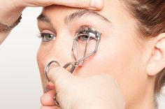 """how to curl eyelashes for dummies--""""The Shiseido and Shu Uemura...work better for flatter, less curved eye shapes. For rounder eyes (the more common, universal shape), my two personal favorites are the Billy B Beauty Eyelash Curler and The Eyelash Curler from Kevyn Aucoin."""" -- turn the curler upwards so that the curve of the curler lines up with the curve of your eyelid's crease. This is the pro secret. Makeup Trends, Makeup Tips, Hair Makeup, Beauty Makeup, Hair Beauty, Curl Lashes, Curling Eyelashes, Long Thick Eyelashes, Thicker Eyelashes"""