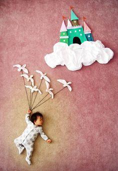 Une maman photographie son bébé au pays des merveilles