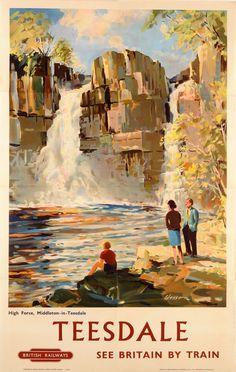 Vintage Transport Railway Rail Travel Poster Reprint Teesdale