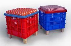 Imágenes de muebles realizados con materiales reciclados