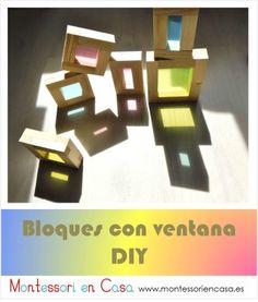 Bloques con ventanas de colores DIY – DIY colored window blocks