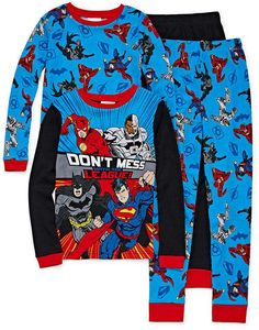 DISNEY 4T PJ'S S//Sleeve 2PC SETS NWT TODDLER BOYS 2T CARTERS JUSTICE LEAGUE