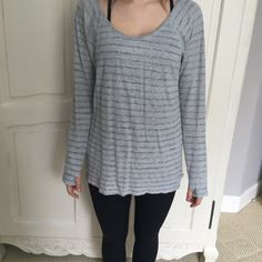 Athleta Long Sleeve Tee Super soft and comfy tee perfect for running errands, going to the gym, or just lounging at home. In great condition. Athleta Tops Tees - Long Sleeve