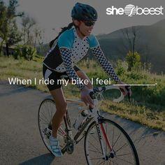 When I ride my bike I feel ________________.