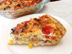 קיש גבינות, תירס ועגבניות שרי