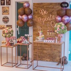 ✨Birthday Party✨ by @ 20th Birthday, Birthday Celebration, Birthday Parties, Girl Baby Shower Decorations, Birthday Party Decorations, 21st Bday Ideas, Gold Bridal Showers, Ideas Para Fiestas, Birthday Balloons