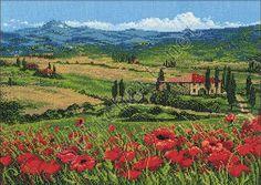 Скачать Вышивка «Тоскана» бесплатно. А также другие схемы вышивок в разделах: Italy, Maki, Riolis, Summer, Nature