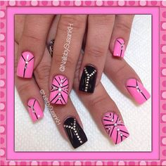 Boom Boom Boom #nails #nailart Instagram photo by @nailsbysusankh via ink361.com