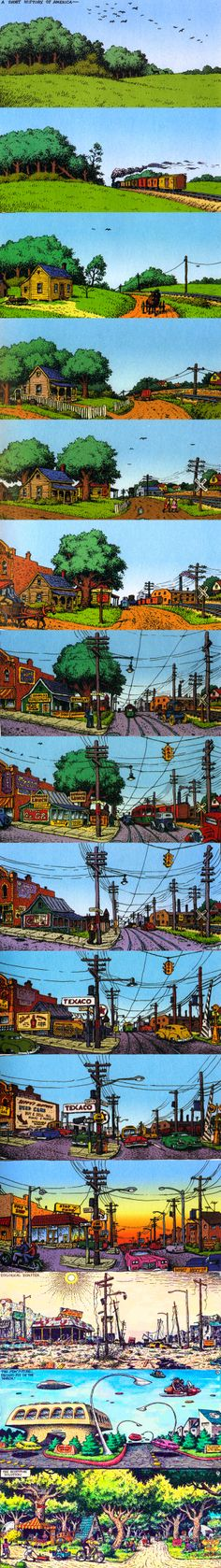 There is a price to pay for progress and a lesson never learned. (artist Robert Crumb)