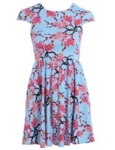 Blue Vanilla Blue Blossom Floral Print Dress