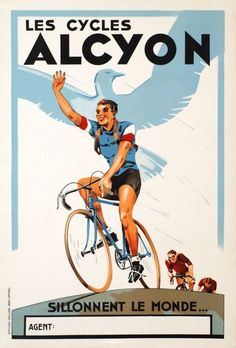 Les cycles Alcyon poster from 1935 found on Un... - Rollers Instinct