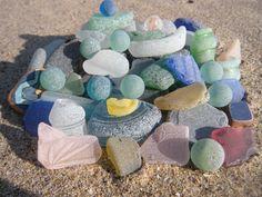 lake michigan beach glass-sea glass, beach glass, marbles, cobalt, pink, cornflower, sand, green, brown, grey