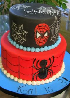 Spiderman Cake By StephsCakes72 on CakeCentral.com