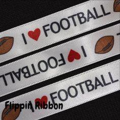 i love football ribbon