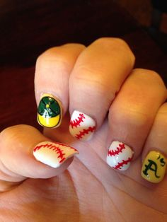 Oakland A's baseball nails
