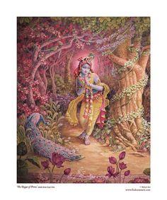 Krsna matted fine art print fits by ThakuraniArts Radha Krishna Holi, Krishna Love, Krishna Art, Hare Krishna, Krishna Drawing, Krishna Painting, Lord Krishna Images, Krishna Photos, Radhe Krishna Wallpapers