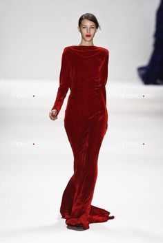 I think this particular dress looks pretty dumb, but I like the idea of red velvet
