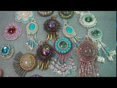 Free Bead Embroidery Tutorials - http://www.guidetobeadwork.com/wp/2013/05/free-bead-embroidery-tutorials-4/