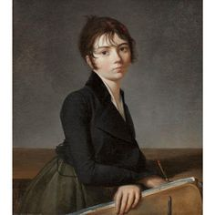 1799, Girl with portfolio by Guillaume Guillon-Lethière  (Quelle/source: Worcester Art Museum)