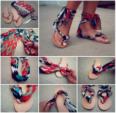 scarfe flip flops