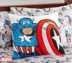 Tyler's Room: Captain America™ Decorative Sham #pbkids