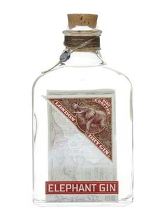 A premium dry gin which is produced in Germany, Elephant Gin is inspired by Africa and in fact 15% of all profits go to two African Elephant charities.  There are 14 botanicals in the recipe.