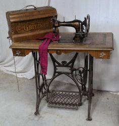 Machines à coudre - ancienne machine a coudre gritzner allemande fonte fer forgé marqueterie couture