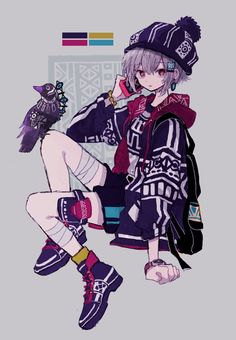 Original Artwork by Anime Chibi, Fanarts Anime, Anime Characters, Manga Anime, Dark Anime Guys, Cool Anime Girl, Kawaii Anime Girl, Anime Art Girl, Cartoon Kunst