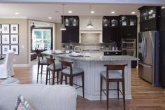 Rounded island | Fall '12 Parade of Homes