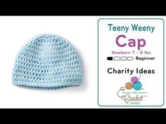 How to Crochet A Baby Hat: Newborn - YouTube
