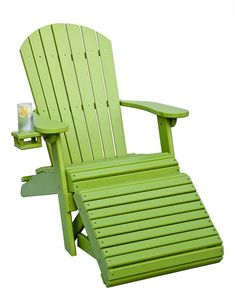 Amish Poly Wood Adirondack Chair With Optional Folding Ottoman
