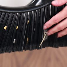 'Clean Dust Bunnies From A Broom With This Clever Hack...!' (via BuzzFeed)