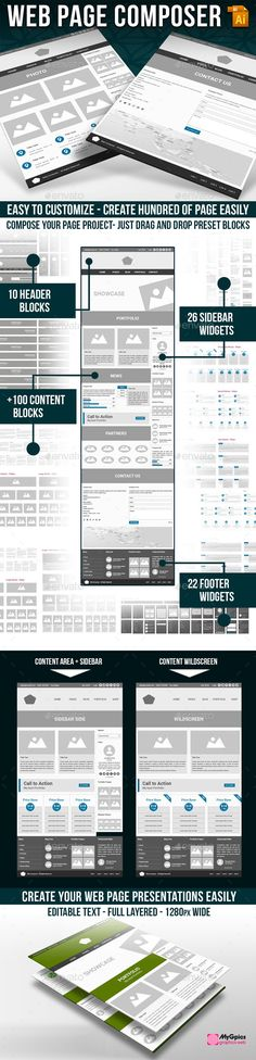 17 Best wireframe web images in 2018 | Wireframe web