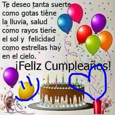 Imágenes de cumpleaños para una Amiga ORIGINALESImágenes de cumpleaños para una Amiga ORIGINALES Happy Birthday Video, Happy Birthday Friend, Happy Birthday Balloons, Marketing Merchandise, Happy B Day, Holidays And Events, Holiday Parties, Words, Party