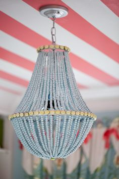 How to make a wood bead chandelier diy and crafts chandeliers how to make a wood bead chandelier diy and crafts chandeliers and woods aloadofball Image collections