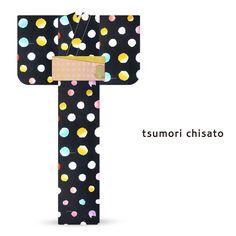 2016 Summer tsumori chisato Yukata Colorful Bubble Polka Dots Black