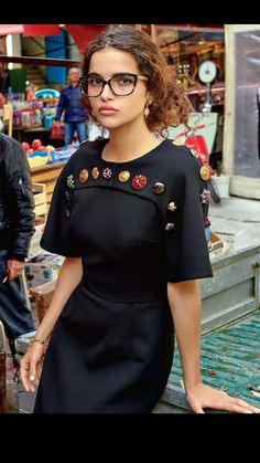 Dolce & Gabbana dress with eclectic button accent