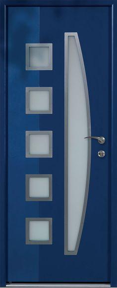 Modèle Marsa Porte du0027entrée aluminium contemporaine petit vitrage Un - prix porte entree tryba