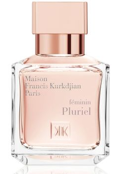 Feminin Pluriel Maison Francis Kurkdjian.  The fragrance features iris, violet, rose, jasmine, lily-of-the-valley, orange blossom, vetiver and indonesian patchouli leaf.