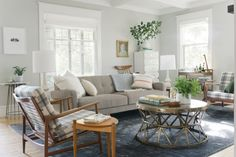 The Curbly Family Living room makeover: need this coffee table for the corner between my two couches Living Room Inspiration, Home Decor Inspiration, Decor Ideas, Interior Design Blogs, Home And Living, Small Living, Modern Living, Decorating Your Home, Interior Decorating