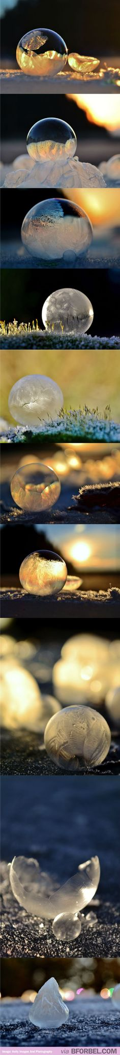 The Most Beautiful, Up-Close Photographs Of Bubbles…