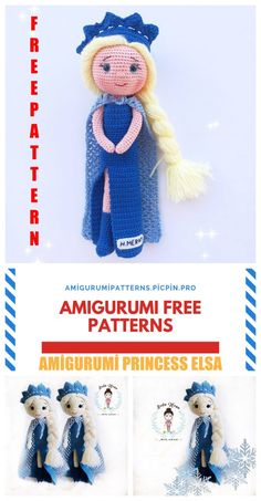 We continue to bring you the most beautiful amigurumi patterns. Amigurumi disney frozen princess elsa free crochet pattern is waiting for you. Crochet Doll Pattern, Crochet Patterns Amigurumi, Amigurumi Doll, Crochet Dolls, Frozen Crochet, Crochet Disney, Frozen Pattern, Crochet Princess, Amigurumi For Beginners