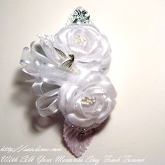 Silk Wrist Corsages For Baby Shower